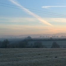 Carlie Lee frosted ridge and furrow, Horley in the Dawn
